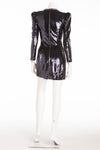 Balmain - Dark Blue Long Sleeve Sequin Dress - FR 38
