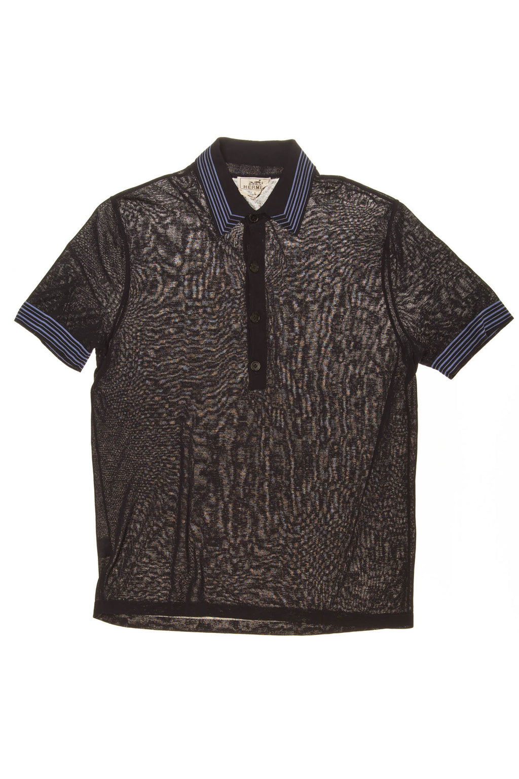 Hermes - Navy Short Sleeve Polo Shirt - L