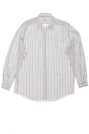 Hermes - Long Sleeve Dress Shirt with Grey & Blue Stripes - IT 43