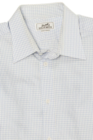 Hermes - Blue Plaid Dress Shirt - IT 42