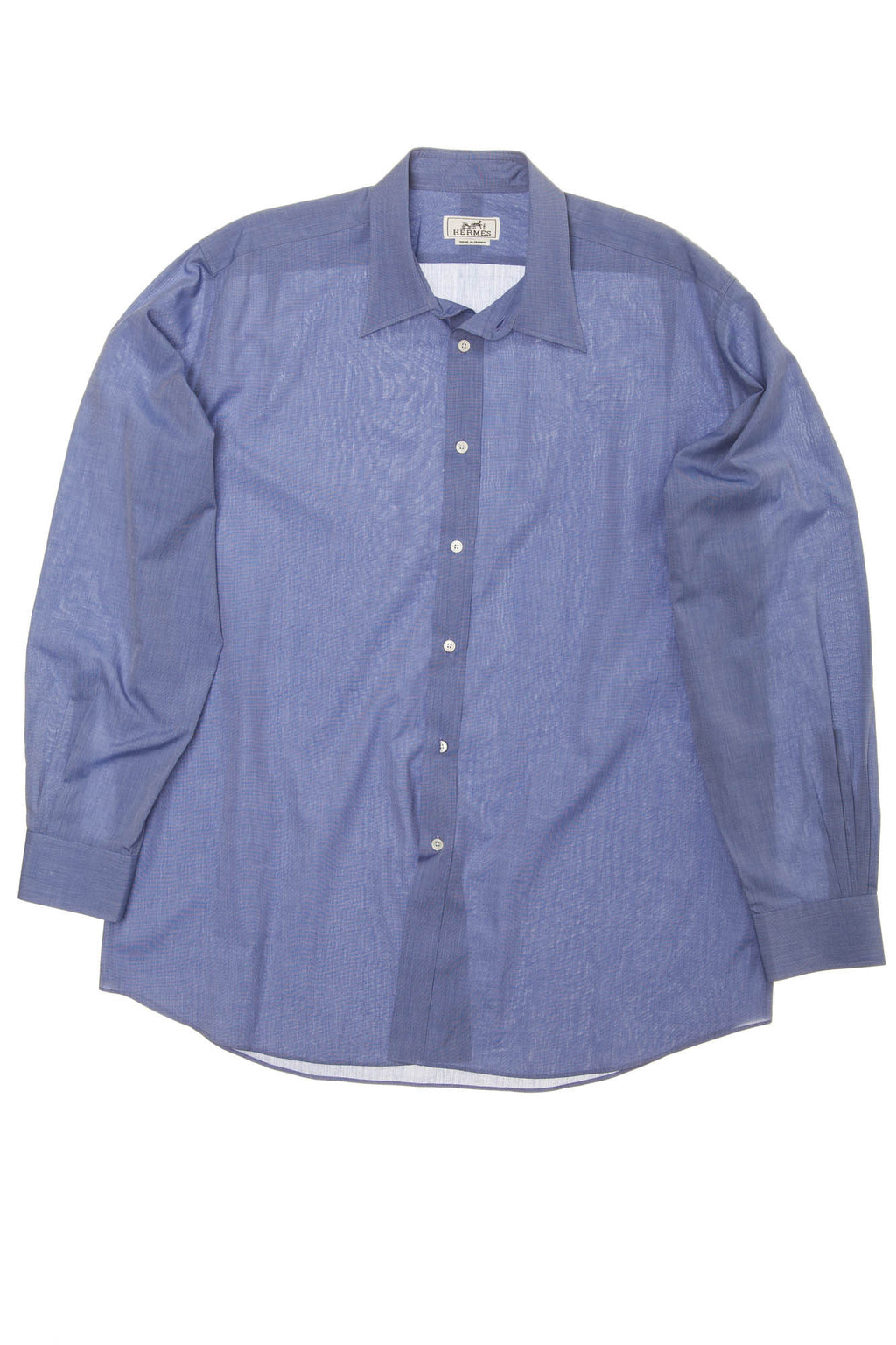Hermes - Blue Men's Dress Shirt - IT 40
