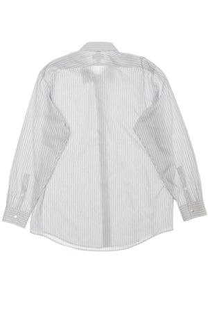 Hermes - White Dress Shirt with Blue Stripes - IT 43