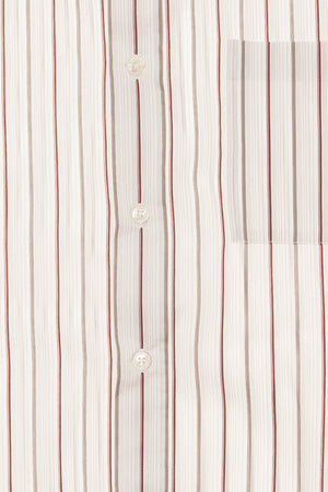 Hermes - Pink Dress Shirt with Grey & Red Stripes - IT 43