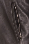 Authentic Hermes - Black Leather Jacket with Fur Trim - FR 54