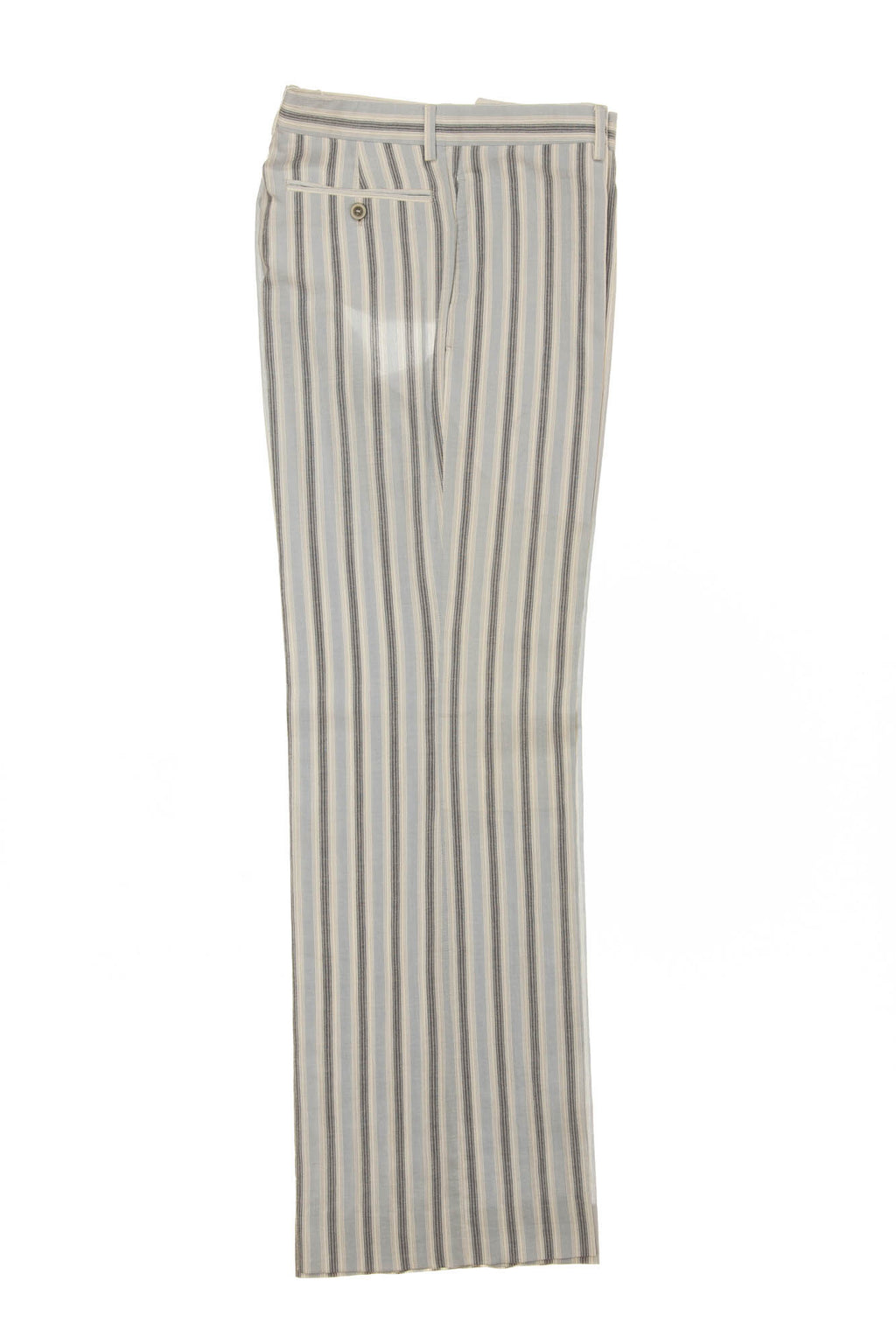 Hermes - White Linen Striped Pants - IT 52