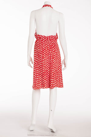 Valentino - Red Halter Dress with White Polka Dots - IT 40