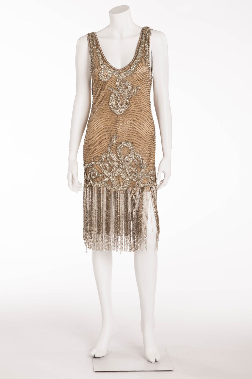 Marchesa - Jeweled Dress Embroidered with Silver Beads - US 6