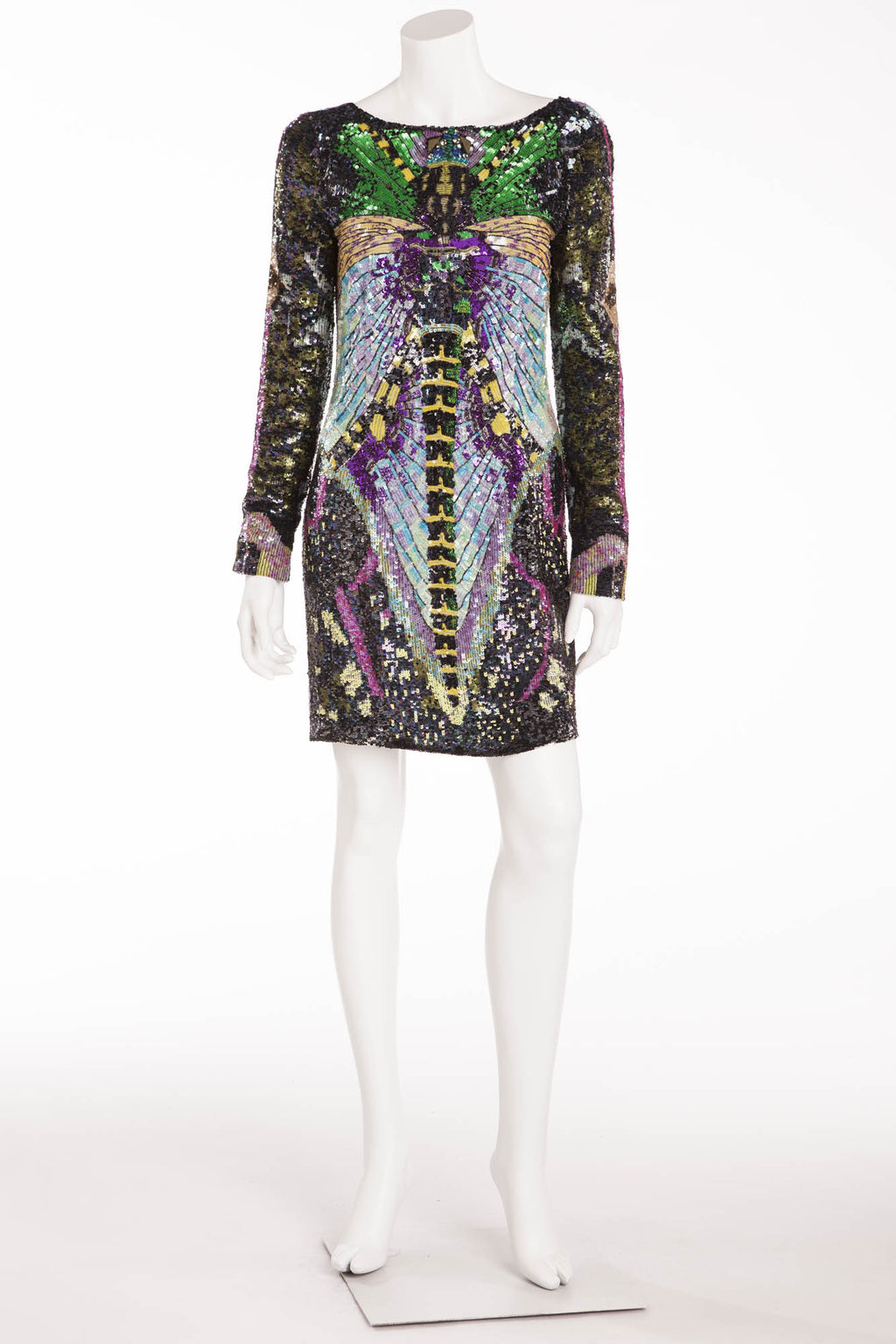 Emanuel Ungaro - Embellished Dress with Open Back - FR 40