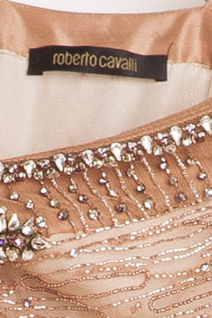 Roberto Cavalli - Editorial, Jeweled Dress Pink Butterfly - IT 42