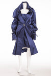 Original Alexander McQueen - New with Tags 2PC Cobalt Blue Dress with Coat - IT 38