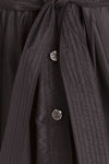 Roberto Cavalli - Black Long Sleeve Button Up Coat  - IT 40