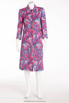 Dolce & Gabbana - 60s Pink and Blue Button Up Coat - IT 40
