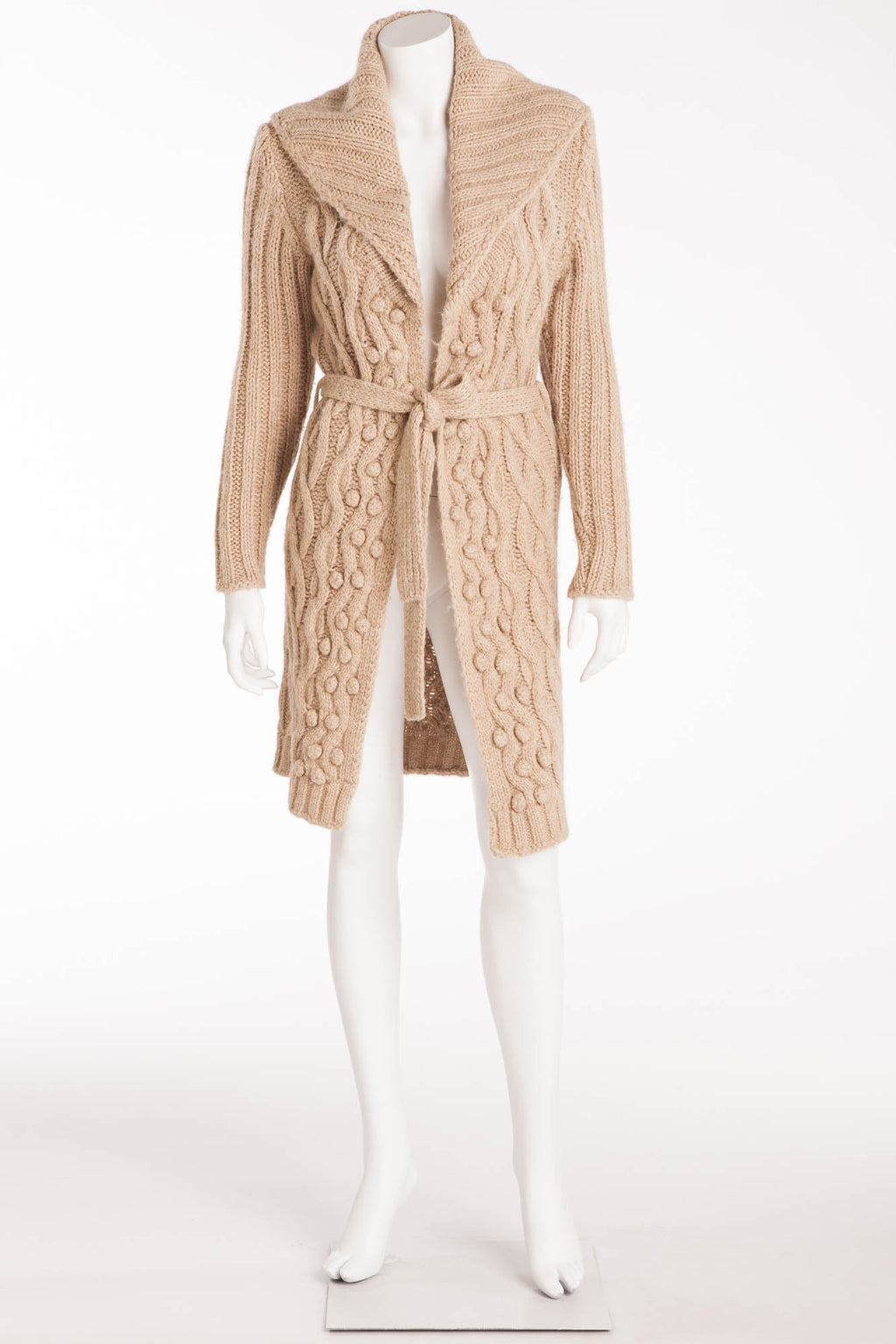 Blumarine - Beige Knit Cashmere Sleeve Sweater - IT 40