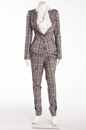 Vivienne Westwood - 3PC Grey Plaid Suit - Size 42