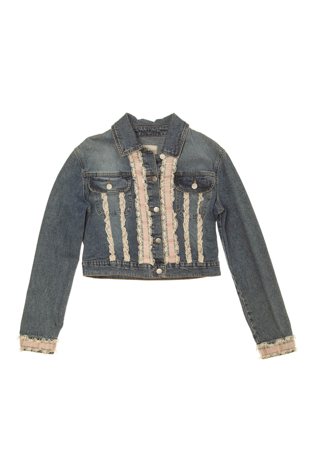 Blumarine - Blue Jean Jacket with Lace - IT 40
