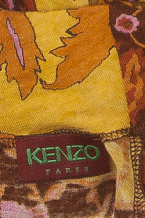 Kenzo - Floral 3/4 Sleeve Turtleneck Blouse -Size S