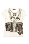 Roberto Cavalli - As Seen on the 2006 Runway Collection - Black and White Graphic Tee Shirt - IT 40