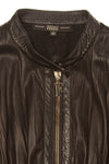Gianfranco Ferre - Black Leather Zip Up Jacket - IT 40