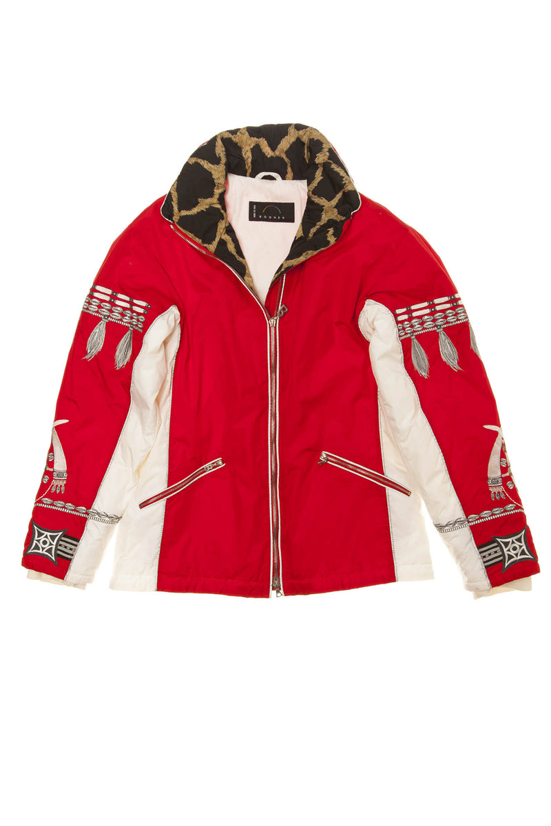 Bogner - Red and White Long Sleeve Ski Jacket - US 8