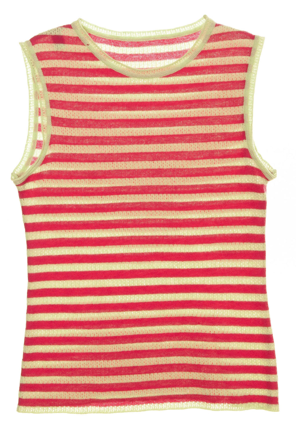 Marc Jacobs - Pink and Green Lined Tank Top -