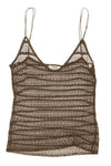 Chloe - Spaghetti Strap Brown Tank Top -