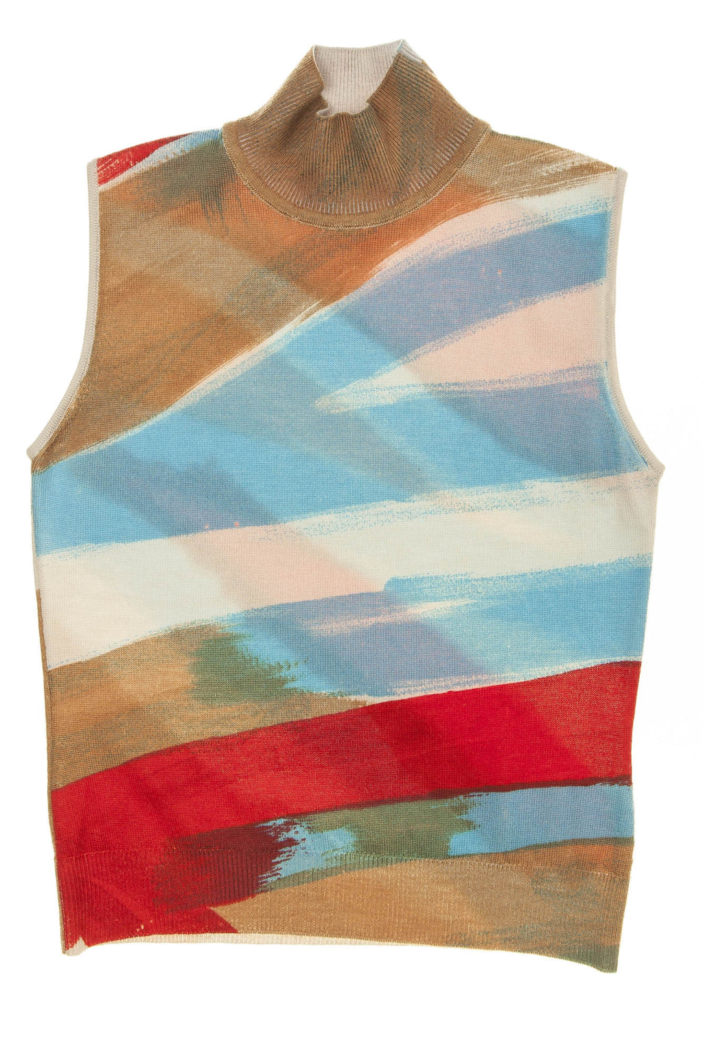 Versace - Multi Color Sleeveless Sweater - IT 40