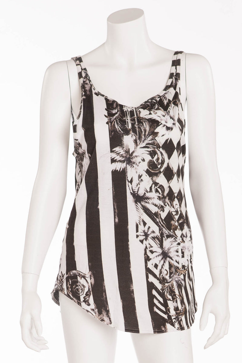 Balmain - Black and White Striped 2pc Tanks - FR 40