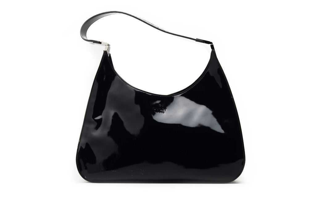 Iconic Tom Ford for Gucci - Black Patent Leather Bag -