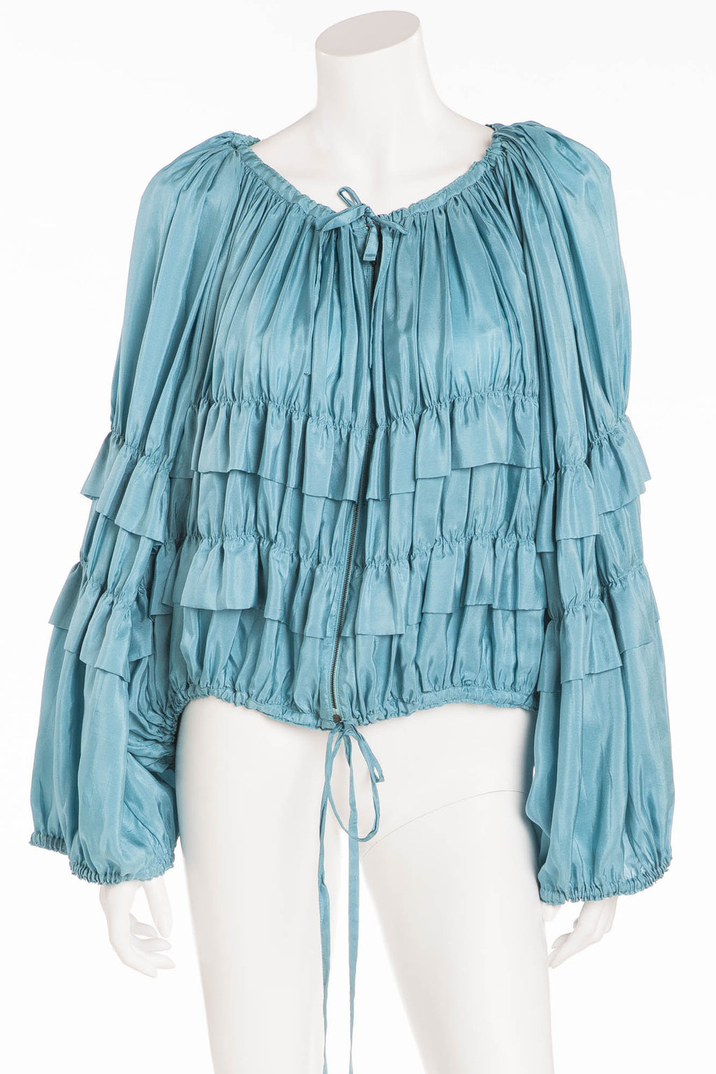 Jean Paul Gaultier - Turquoise Shirt with Ruffles - S