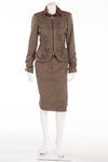 Roberto Cavalli - 2PC Tweed Blazer & Skirt -