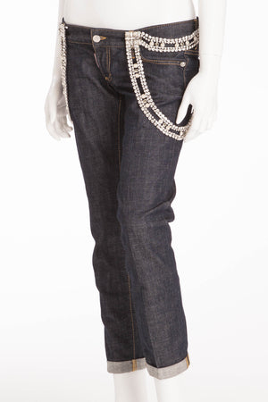 Dsquared2 - Jeans with Removable Crystal Embellishments - IT 42