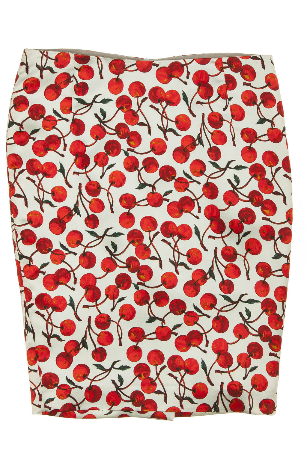 Dolce & Gabbana - Baby Blue Pencil Skirt with Cherries -