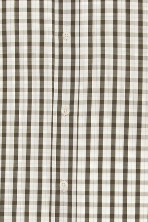 Hermes - White and Gray Checkered Long Sleeve Button Down - IT 43