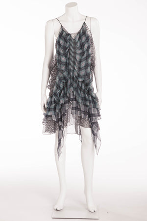 Roberto Cavalli - Printed Chiffon Spaghetti Strap Dress - IT 42