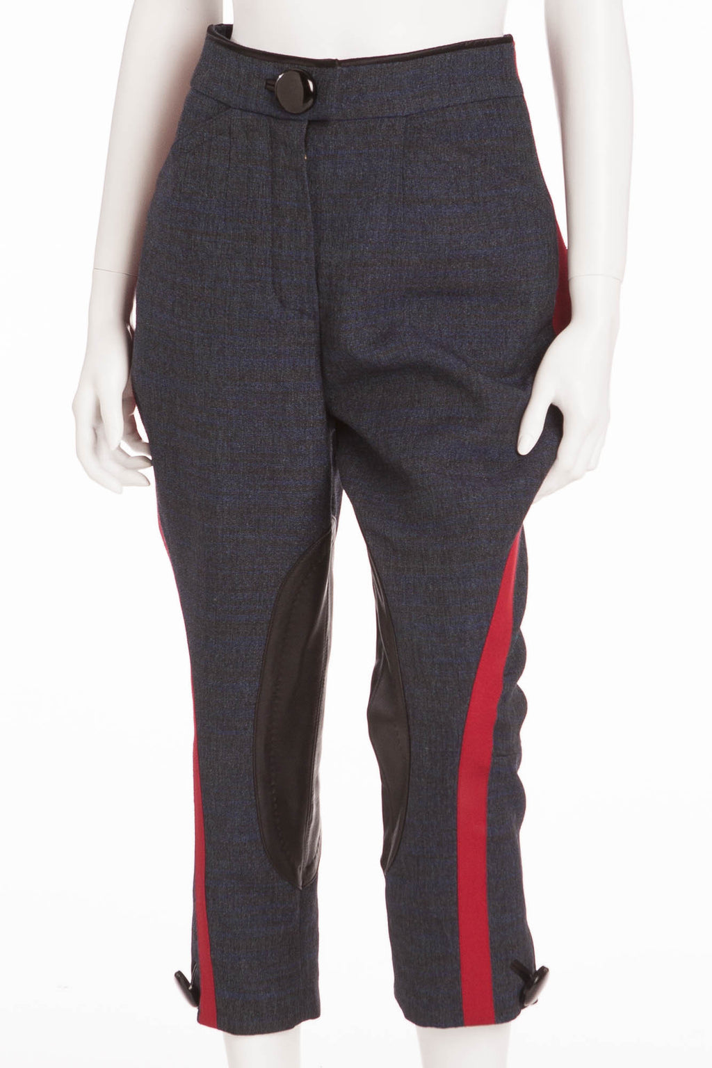 Louis Vuitton - Editorial, From the Iconic Fall 2011 Runway Collection - New Blue Jodhpur Style Pants with Red Trim- FR 38