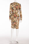 Dolce & Gabbana - New With Tags Silk Baroque Tapestry Long Sleeve Dress - IT 42