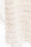 Fendi - White 3/4 Sleeve Cage Jacket with Fur -