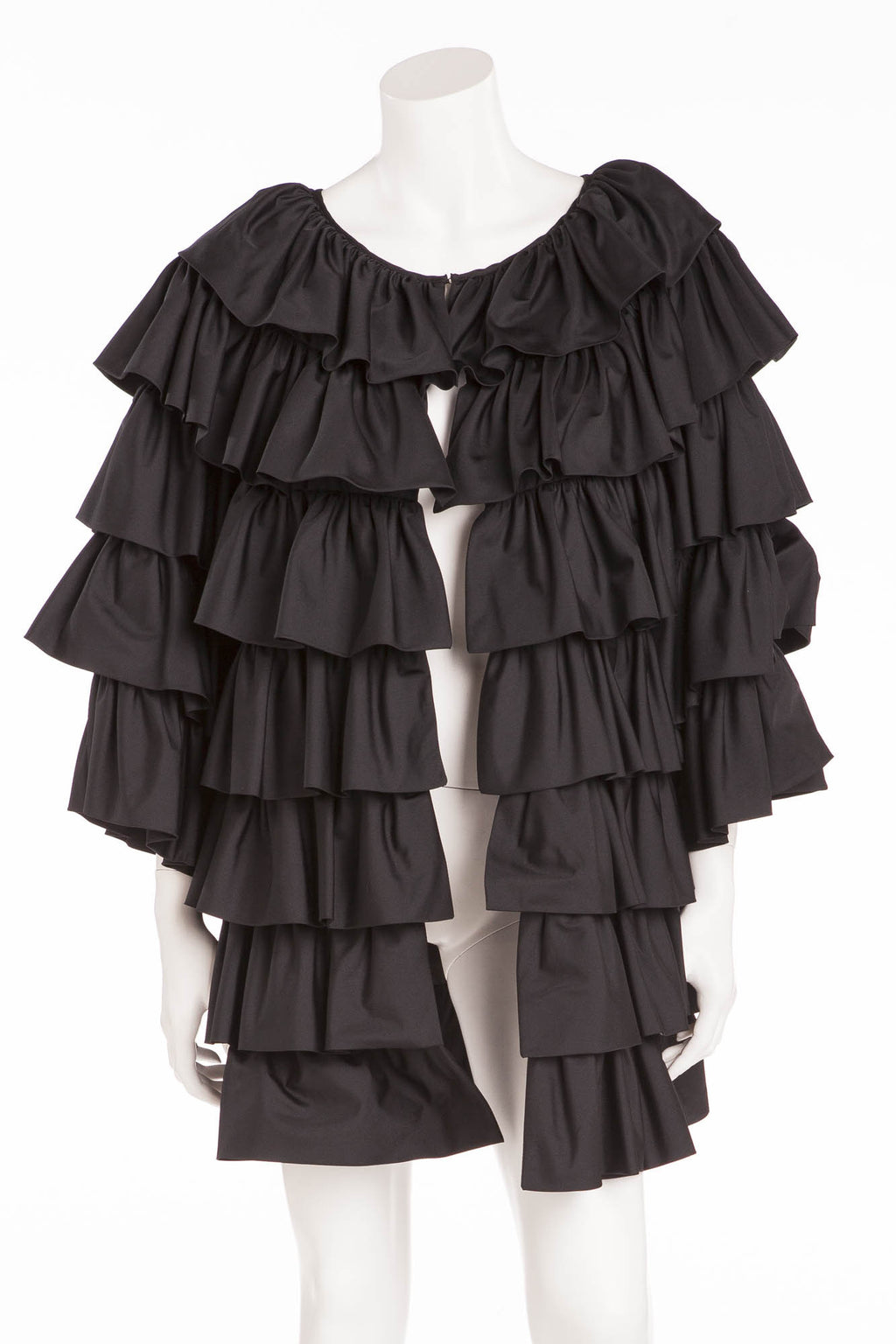 Michael Kors - Black Ruffle Jacket - M
