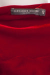 Original Alexander McQueen - Red Long Velvet Grecian Gown with Arm Tassel - IT 40