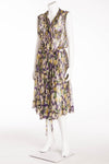 Roberto Cavalli - Sleeveless Purple, Green and Gold Multi Color Dress IT 42