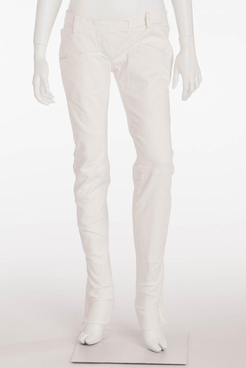 Balmain - New with Tags White Denim Low Rise Skinny Jeans - FR 40