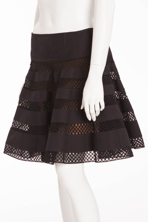 Alaia - Black Mini Skirt