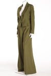 Christian Dior - 2PC Olive Green Pant Suit & Blazer - FR 40