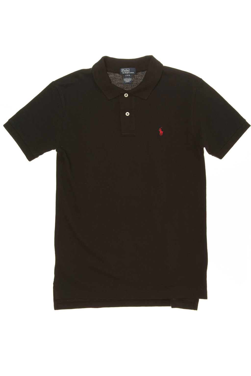 Polo By Ralph Lauren - Black Polo - L (14- 16)