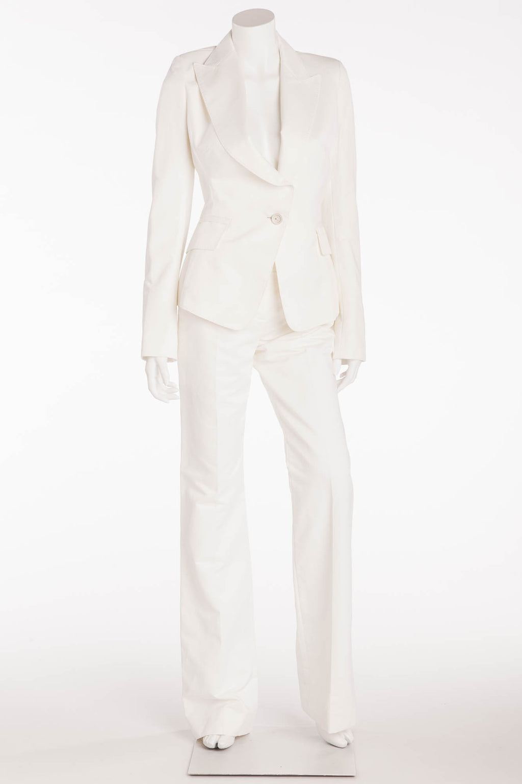 Kaufman Franco - Brand New 2pc White Blazer and Pants - IT 42