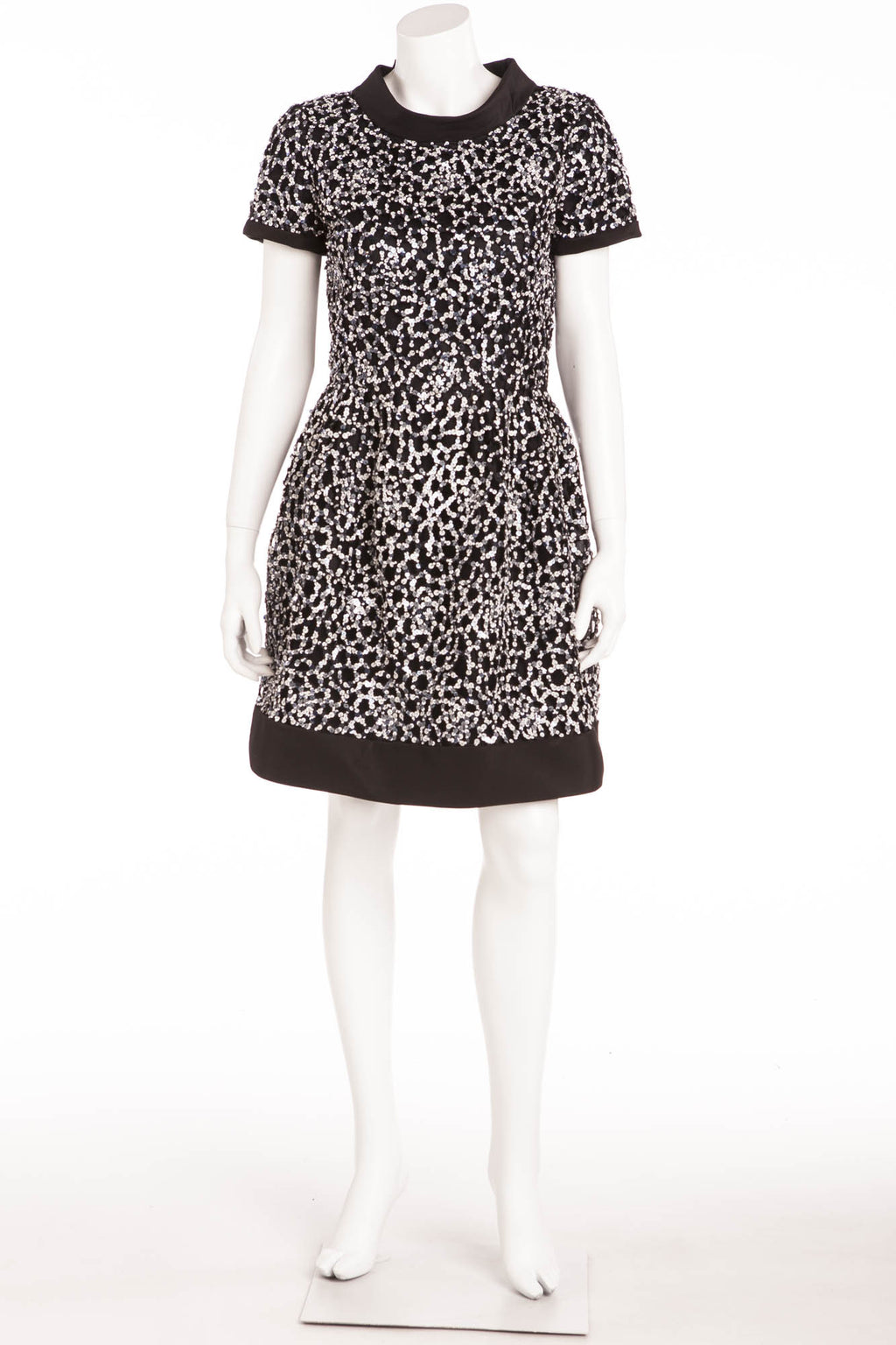 Oscar De La Renta - Camellia Sequined Silk Mini Dress NWT - 8
