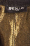 Balmain - Black Jean Jacket Gold Buttons - FR 40