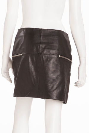 Saint Laurent - Black Mini Skirt with Zippers - FR 40