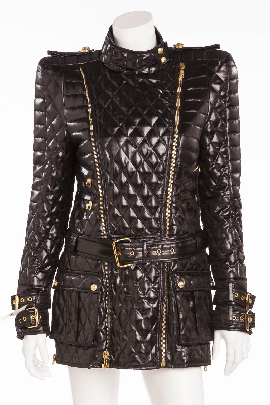 Balmain - Label's Signature Silhouette Jacket with Strong Padded Shoulder  - FR 40