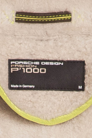 Porsche Design - Gray Suede Long Sleeve Jacket with Fur Trim - M